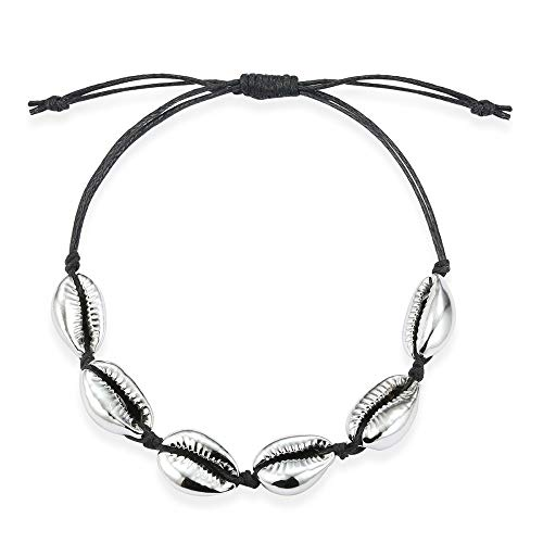 Tribal Spirit Armband Kauri-Muschel Farbe schwarz