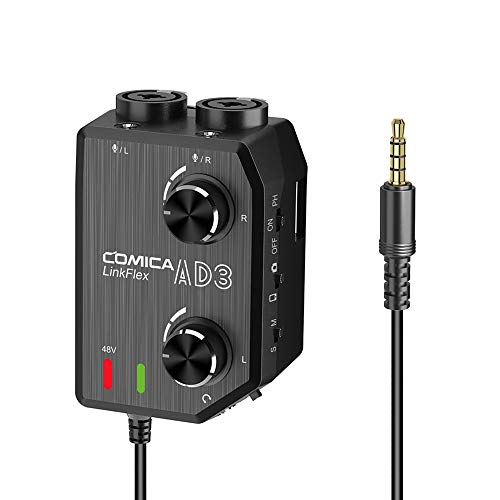 Comica LINKFLEX.AD3 Preamplificador de Audio de micrófono/XLR de 2...
