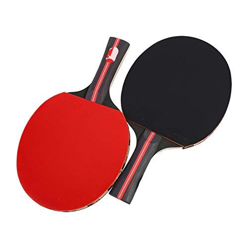 Pwshymi Ping Pong Paddle Table Tennis Racket Mango Largo Hand-Shake Table Tennis Bat con Bolsa