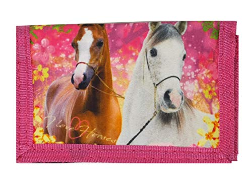Theonoi tolle Geschenkidee Horses/Kinder Geldbörse/Geldbeutel/Portemonnaie/Brieftasche Pferd 03