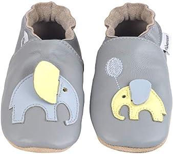 Kindsgut - Zapatos para los Primeros Pasos, Elefante - Talla 18/19