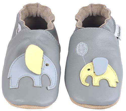 Kindsgut Krabbel-Schuhe, Kita, Baby, echtes Leder, Gr. 18/19, Elefant