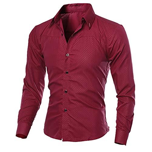 Hombres Camisas de hombre Casual Oxford Camisas Primavera Otoño Manga Larga Camisas Sól