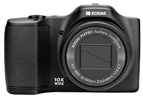 Kodak Pixpro FZ102-BK Fotocamera digitale 16.44 megapixel, zoom Ottico 10X. Batteria al Litio. Colore Nera