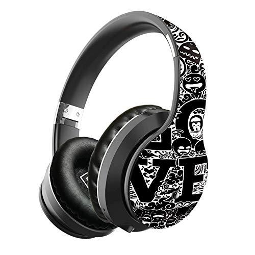 ZZMY - Auriculares inalámbricos Bluetooth estéreo deportivos para videojuegos, graffiti, plegables, telescópicos, con micrófono