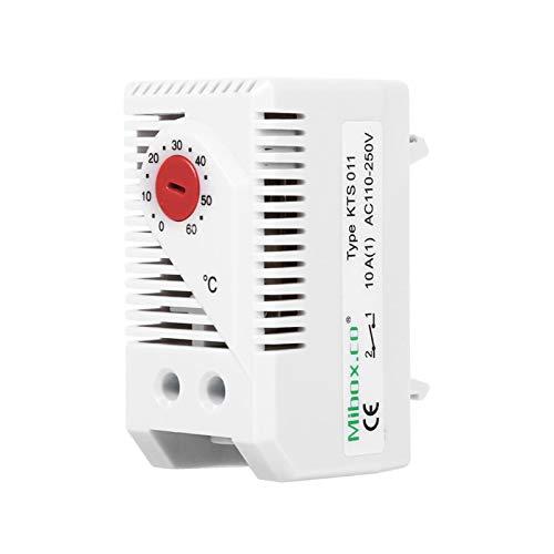 Controlador de temperatura -1Pc 0-60 ℃ Interruptor controlador de temperatura del termostato mecánico eléctrico compacto ajustable Nuevo(KTO011)