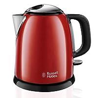 russell hobbs bollitore colours plus mini 24992-70, capacità 1l, 2400 watt, filtro anticalcare, base girevole con avvolgicavo, color rosso