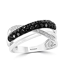 14K WHITE GOLD DIAMOND,BLACK DIAMOND, RING WZ0K063D13