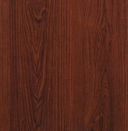 "Red Brown Wood Peel and Stick Wallpaper Wood Grain Shlef Liner Self Adhesive Film Removable Textured Wood Panel Decorative Wall Covering Faux Vinyl Shelf Drawer Liner Cabinet Countertop 78.7""x17.7"""