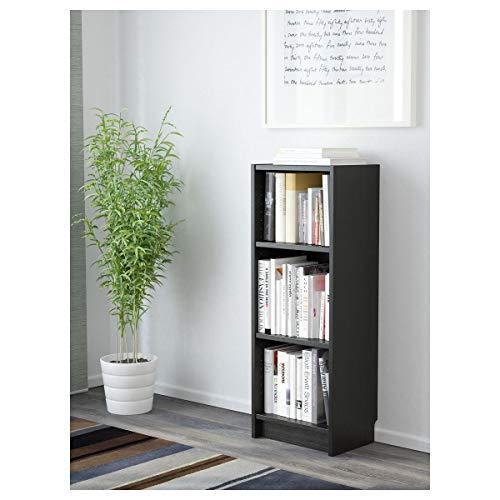 IKEA BILLY - Estantería para libros, color negro y marrón