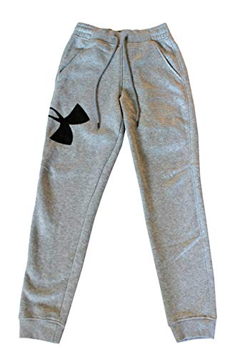 Under Armour Men's Sweatpants Athletic Big Logo Joggers (Grey, M)