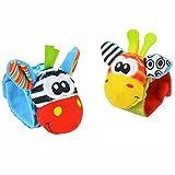 Baby Rassel, Kinder Armband Kids Armband Soft Plüsch Educational Rasseln Spielen Spielzeug Geschenke Zufällige Farbe 2PCS