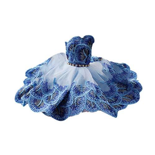 TrifyCore Brautkleid Kleider Prinzessin Kleider Partei-Ausstattung für Barbie-Puppe (blau Peacock)