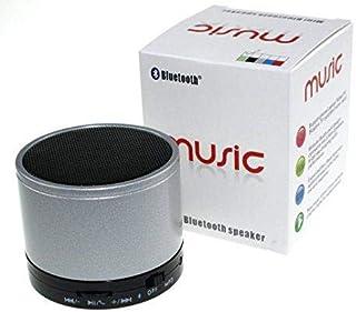 Mini Portable Wireless Bluetooth Stereo Speaker Music Radio with Mic Support TF Card / Mirco SD FM Radio USB Port - Silver