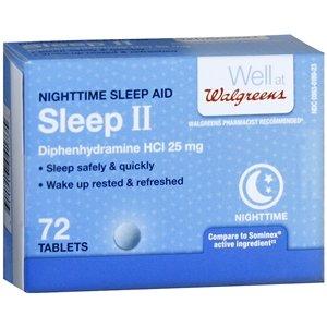 Walgreens Sleep II Nighttime Sleep-Aid Tablets 72 ea