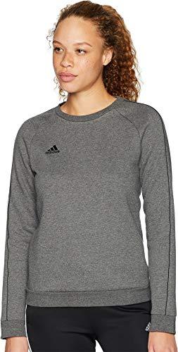 adidas Core18 - Sudadera para mujer, color gris oscuro y negro, XL