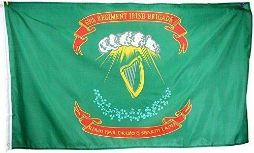 Trade Winds 3x5 Ireland Irish 69th Regiment Flag Brigade Polyester Flag 3'x5' Fade Resistant Premium Fade Resistant