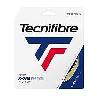 【新パッケージ】テクニファイバー(Technifibre) エックスワン バイフェイズ 硬式テニス ガット X-ONE BIPHASE (ナチュラル, 1.24㎜) [並行輸入品]
