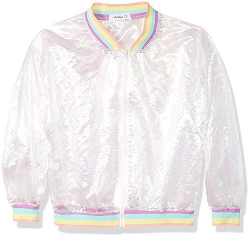 Holografische Regenbogenjacke für Damen und Mädchen, schillernd, durchsichtig, Netz-Jacke, sonnenfest, für Rave, Party, Festival, Outfit