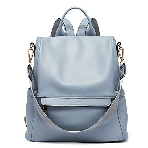 Women Backpack Purse Fashion Leather Large Travel Bag Ladies Shoulder Bags blue