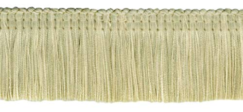 4.6 Meter Value Pack|Empress Collection Lush 51mm Brush Fringe Trim|Oatmeal, Pebble, Kasha|Style#: 0200EMPB|Color: Frost - W119 (15 Ft / 5 Yards)
