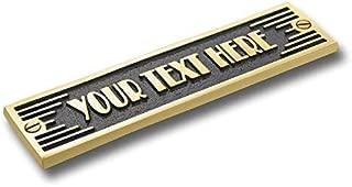 The Metal Foundry Custom Text Metal Door Sign. Art Deco Style Home Décor Accessories Door Or Wall Brass Plaque. Handmade in England.