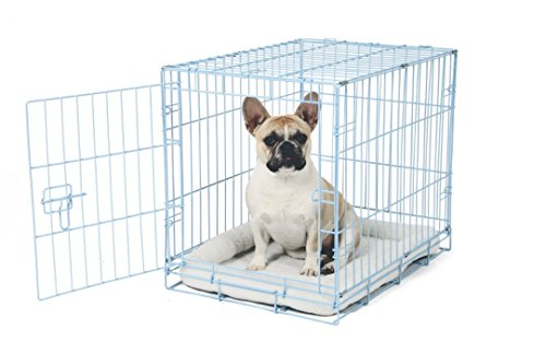 Carlson Blue Secure and Compact Single Door Metal Dog Crate Small