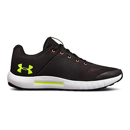 Under Armour boys Grade School Pursuit Sneaker, Black (003)/White, 5.5