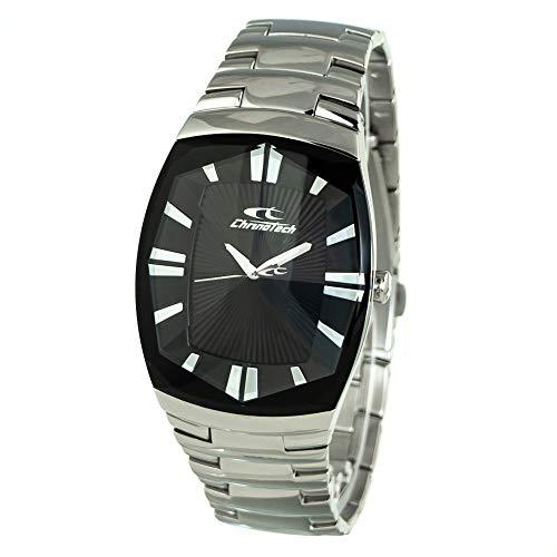 Chronotech Herren Analog Quarz Uhr mit Edelstahl Armband CT7065M-02M
