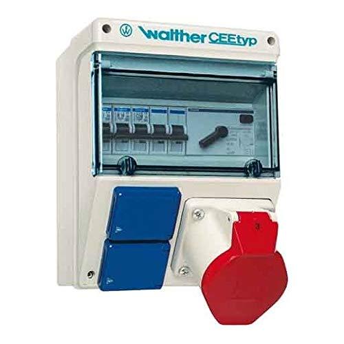 Preisvergleich Produktbild Walther Werke Steckdosenkombination 6921109 Kunststoff,  Wandgeh. CEE-Steckdosen-Kombination 4015609091447