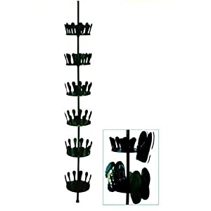 Spetebo - Zapatero telescópico giratorio para hasta 36 pares