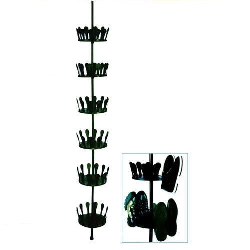 Spetebo Teleskop Schuhregal für bis zu 36 Paar Schuhe - höhenverstellbares Schuhkarussel