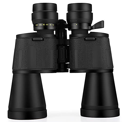 Prevessel Prismáticos HD, 10 – 120 Zoom, prismáticos de teleobjetivo de visión nocturna impermeables a prueba de niebla para carreras, playa, observación de aves, carreras de caballos, conciertos
