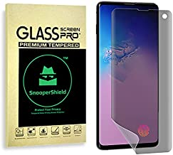 SnooperShield Privacy Screen Protector for Samsung Galaxy S10 and S10+ (Fingerprint Compatible) (S10+)