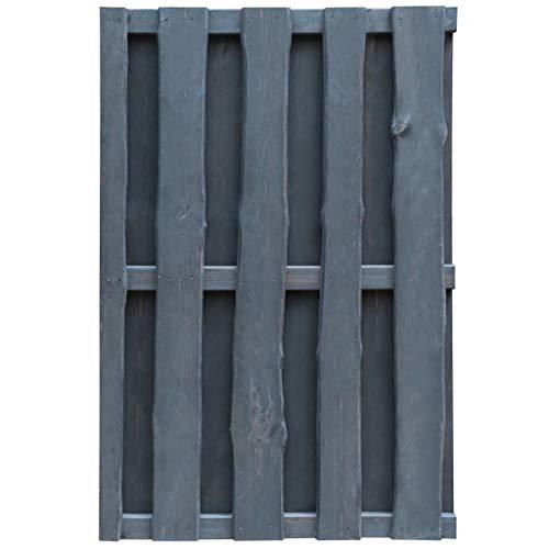 Ghuanton hek van geïmpregneerd grenenhout FSC 100 x 150 cm grijs knutselen tuinhek tuindeuren