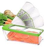 Tritaverdure LHS Mandolina affettatrice con lame multiple regolabili per insalata, formaggio, verdure, trituratore, zestere, verde