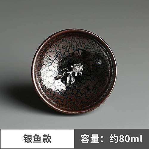 Glaseres Handgemachte Silberne Einlage Lotus einzelne Tassen Teetasse Tasse Inhaber-Sardellen