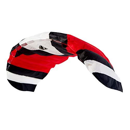 Wolkenstürmer® Paraflex Sport 2-Leiner Lenkmatte 2.3 rot - Kite Drachen mit Flugschlaufen – Zweileiner Lenkdrachen - Flugdrachen für Anfänger & Kinder ab 6 Jahren