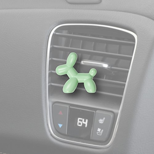 Little Pup 96606 Fresh Mint Scent, Car Air Freshener, Clips to A/C Air Vent, Alcohol-Free Fragrance Oil, Non-Hazardous and Non-Toxic Plastic, Set of 1