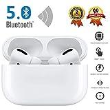 Écouteurs sans Fil Bluetooth 5.0 avec réduction de Bruit, Couplage Automatique, IPX7 écouteurs Sportifs stéréo étanches Intégré HD Mic Casques, 24hrs Playtime, pour Android Airpods AirPods Pro