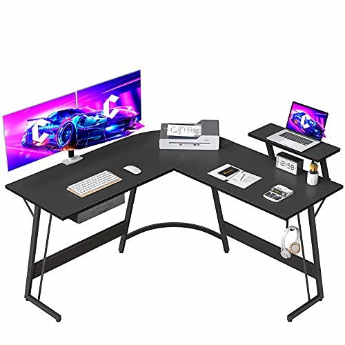 CubiCubi Gaming L-Shaped Desk Computer Corner Desk, 50.8' Home Office Gaming Desk, Office Writing...