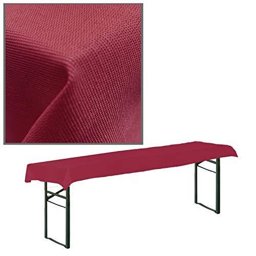 JEMIDI Stofftischdecke für Bierbanktische Tischdecke kariert Tischdecken Decke Tisch Tischdecken (Bordeaux, 90cm x 240cm für Biertische)
