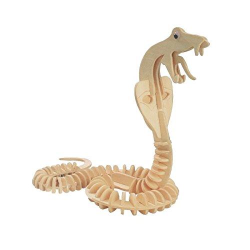 Puzzle en bois 3D Squelette Animaux sauvages (Serpent Cobra)