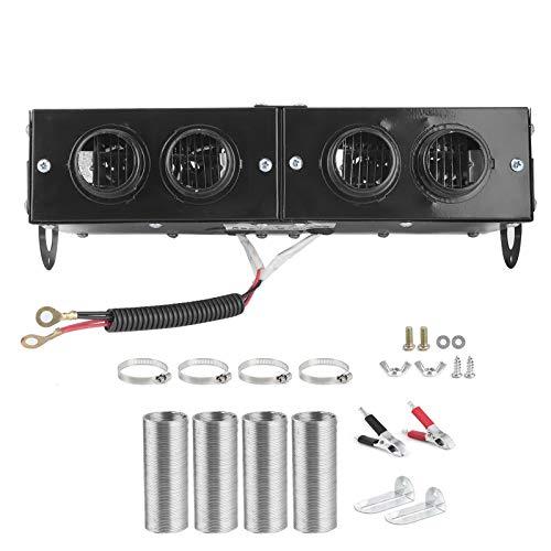 Duokon Iron Car Heater Defogger Auto 4 Hole Heating Fan 12V Defroster Defogger 150W/300W Adjustable