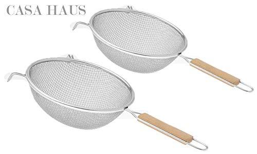 Seiher Seib Suppensieb mit  14 cm  matt poliert mit Drahtgriff von Salvinelli