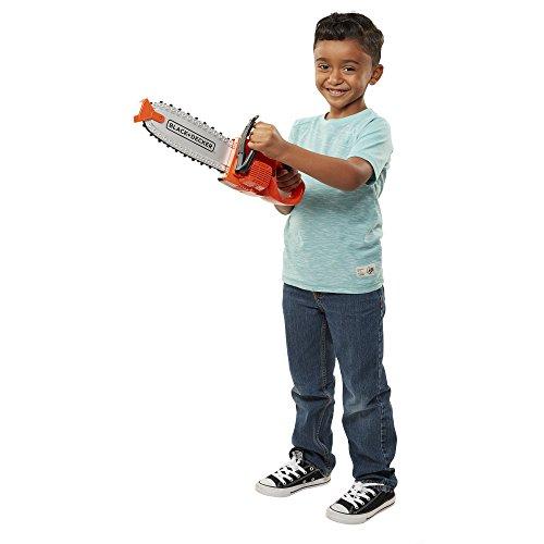 BLACK+DECKER Jr. Chainsaw Kids Outdoor Yard Play Tools