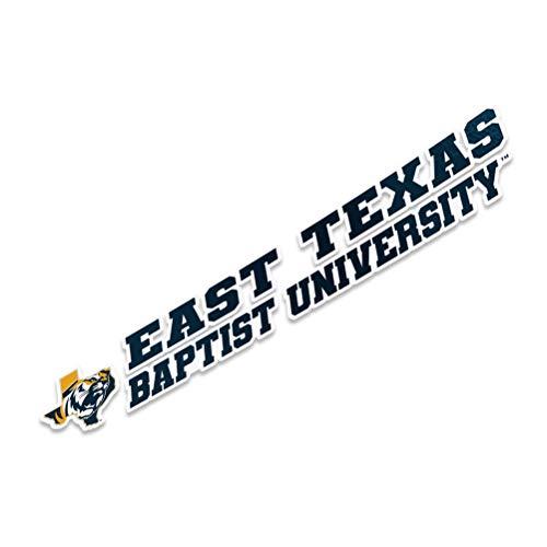 East Texas Baptist University NCAA Name Logo Vinyl Decal Laptop Water Bottle Car Scrapbook (8 Inch Sticker)