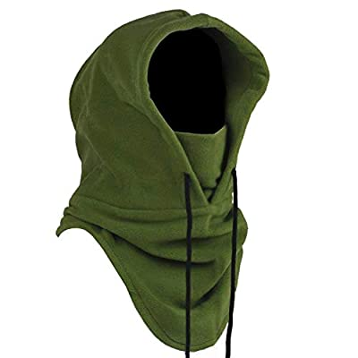Joyoldelf Tactical Heavyweight Balaclava Outdoor Sports Mask for Outdoor Hiking Camping Hiking Skiing Cycling and Other Sports (Army Green)