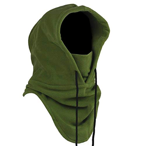 Oldelf Tactical Heavyweight Balaclava Outdoor Sports Mask for Outdoor Hiking Camping Hiking Skiing Cycling and Other Sports (Army Green)