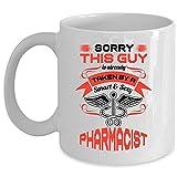 N\A Taza del Esposo de la Farmacia Amo a mi Esposa Taza de café Este Chico se tomó la Compra de una Taza de Farmacia Inteligente (Taza de café - Blanco)